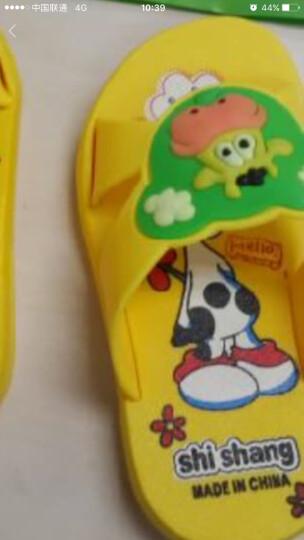 乐荔 卡通儿童家居浴室拖鞋 小奶牛 17码  黄色 晒单图