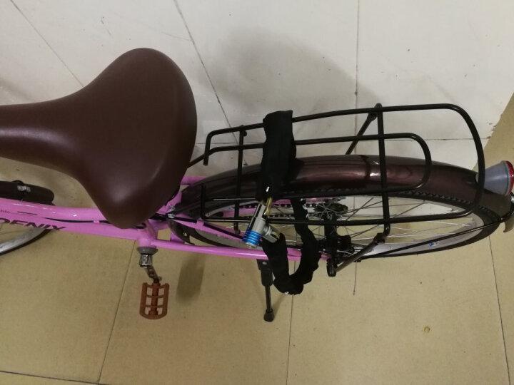 凤凰(Phoenix) 凤凰通勤自行车女式24寸学生男女复古公主淑女单速/变速城市自行车 7速 比安奇绿 晒单图