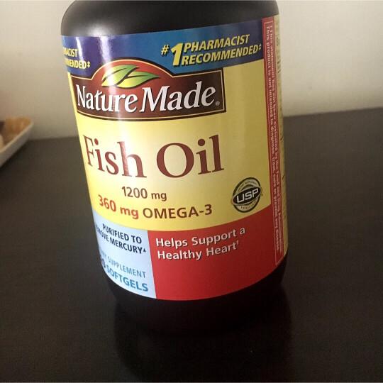 Nature Made 深海鱼油软胶囊220粒 调节三高降血脂降血压欧米伽3 鱼油3瓶 晒单图