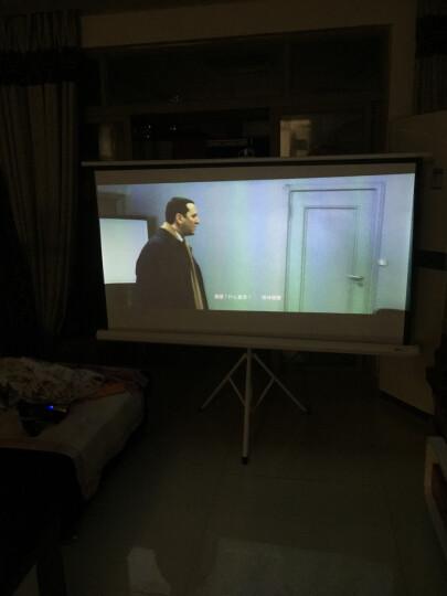 美硕(MEISHUO)投影幕布投影仪幕布 投影机幕布  投影仪通用支架幕布 移动便携屏幕 高清白玻纤材质 100英寸4比3支架幕 晒单图