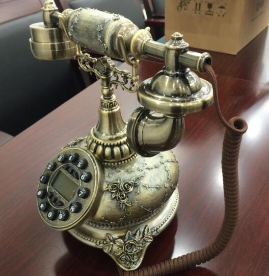 艾蒂斯(ARTS.HOME.ids) 艾蒂斯 仿古电话机座机欧式电话机老式复古创意时尚 君临天下 晒单图