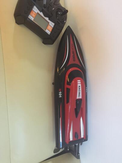 活石(LIVING STONES) 遥控船模高速快艇比赛专用儿童超大电动玩具船1100 标配版天空蓝(35cm) 晒单图