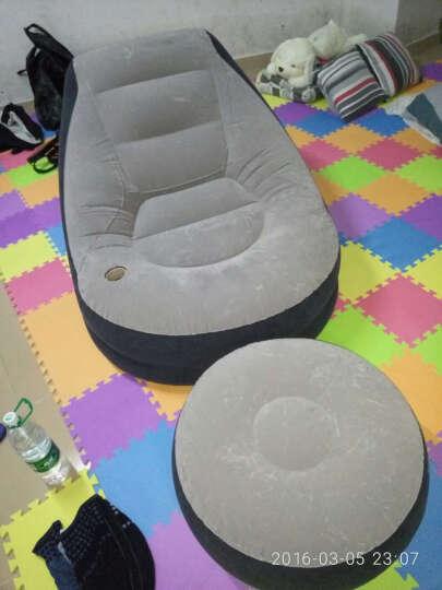 INTEX舒适植绒充气沙发床 单人懒人休闲沙发 午休床 办公室午睡床 折叠床躺椅子凳子 本款+蓄电泵 晒单图