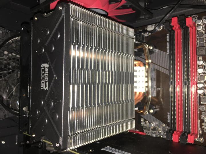 超频三(PCCOOLER)东海X4 CPU散热器(多平台/支持AM4/1151/4热管/PWM温控/12CM静音风扇/附带硅脂) 晒单图