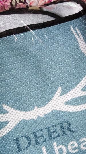 紫风铃汽车坐垫夏季四季单片冰丝3D立体汽车座垫单张方垫前排坐垫可爱卡通无靠背车垫汽车座套车垫 三件套-鹿角 晒单图