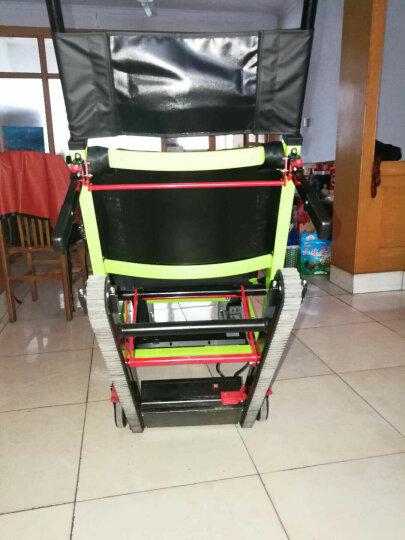 欣奎康 电动爬楼轮椅车便携履带式爬楼车老年人上下楼梯折叠轻便爬楼机手动 加强款--黑色大轮-前6寸后8寸-可调速 晒单图