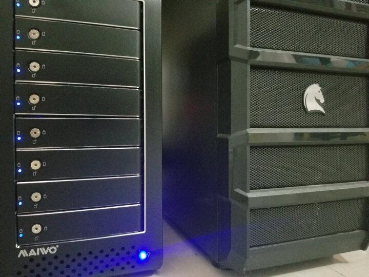 麦沃(MAIWO)K8FSAS 全铝 八盘位磁盘阵列柜 支持 2.5/3.5英寸 SATA接口硬盘 磁盘阵列盒 黑色 晒单图