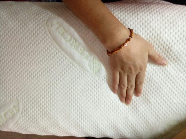 清幽 泰国进口天然乳胶枕 大颗粒按摩乳胶枕芯枕头 橡胶枕保健颈椎枕护颈 高密度硬 天丝外套 62/37/9/11 晒单图