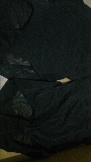 采多宝大码女装2018夏季胖妹妹高腰弹力产后收腹裤塑身裤打底裤K671 黑色 均码 晒单图