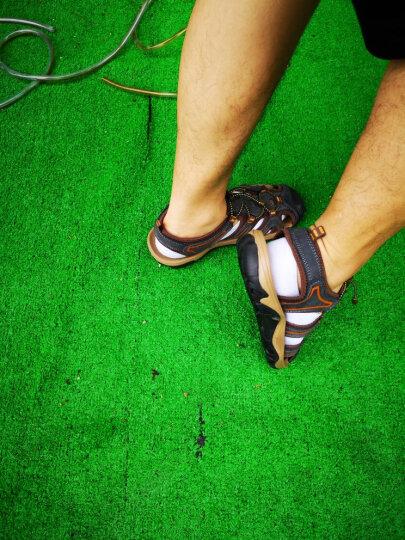【头层牛皮】佧迪骆途CRDLOTO凉鞋 男沙滩鞋 包头套脚洞洞鞋防滑夏季户外男士真皮凉鞋子 51126卡其色 43 晒单图