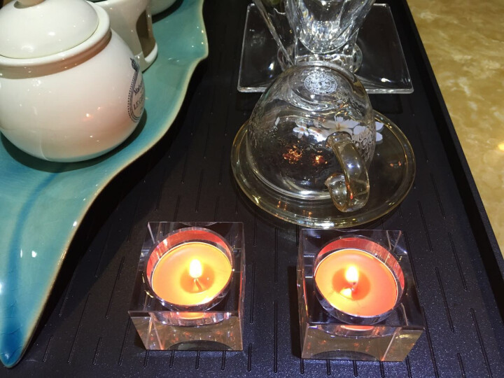 舒居 烛台 简约现代水晶烛台 欧式玻璃烛台摆件 K9水晶烛台 方形水晶烛台香薰蜡烛烛台摆件 晒单图