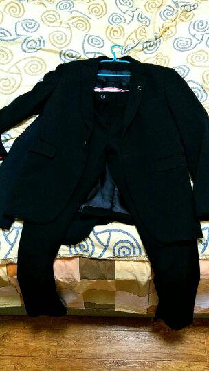 西服套装男2018新款男士修身西装新郎结婚礼服商务职业休闲西服两件套男单件西装 深灰色三件套(西服+西裤+马甲) S 晒单图