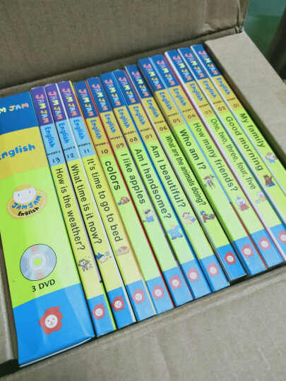 Jam Jam English果酱英语儿童宝宝英文原版绘本点读发声纸板书附送CD字母游戏卡 果酱英语30册 晒单图