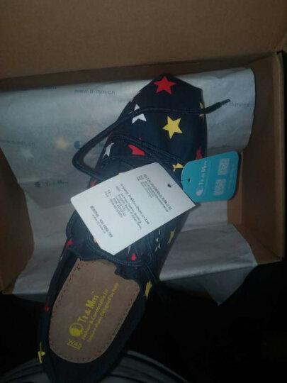 Tt&Mm/汤姆斯帆布鞋新款厚底增高女鞋时尚一脚蹬休闲懒人鞋子透气学生平底单鞋子TM737332W 黑色(TM737107W) 35 晒单图