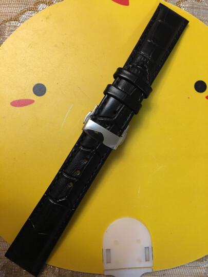 积优 手表表带男女真皮 适用于沛纳海dw手表带 万宝龙情侣表带 真力时天梭浪琴 西铁城天王皮表链 红色 12mm 晒单图