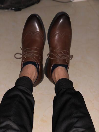 Tata/他她男鞋专柜同款雕花打蜡牛皮低帮系带布洛克商务正装皮鞋男 婚鞋 F6N21CM6 浅啡色 43 晒单图