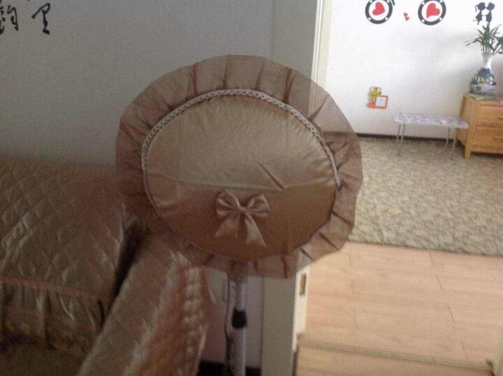 骆易家 欧式布艺蕾丝圆形电风扇罩风扇套防尘罩 曼纱魅影 香槟 直径50cm(适用直径49-55cm) 晒单图