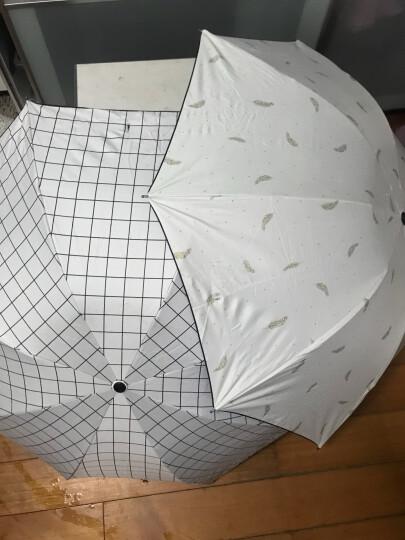 太阳伞女防紫外线商务英伦格子遮阳伞黑胶折叠创意防风防晒伞女生用北欧简约风小清新雨伞晴雨两用 缤纷世界-满天花 晒单图