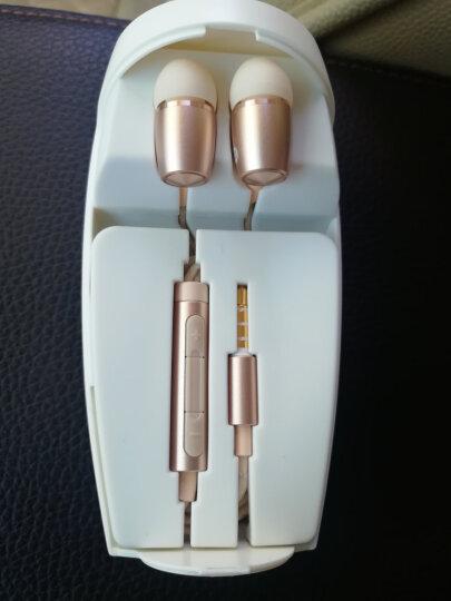 荣耀原装三键线控防缠绕入耳式高保真立体声引擎耳机PLUS (香槟金) 晒单图
