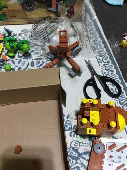潮昇动漫 植物大战僵尸玩具塑料拼装拼插积木发射益智男生女孩儿童玩具 吸塑版-巨浪沙滩 晒单图