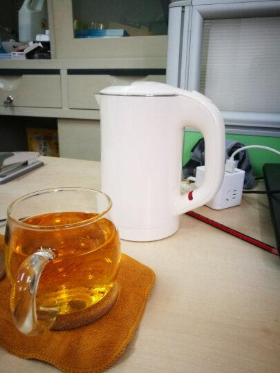 小型电热水壶迷你旅行出差烧开水壶小功率便携式不锈钢双层保温电热水壶 晒单图