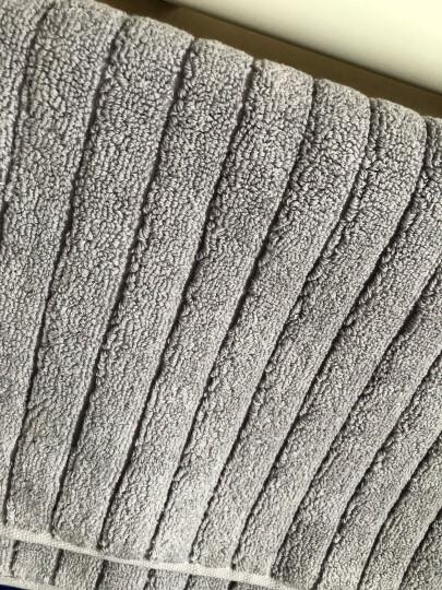 三利 纯棉加厚毛圈吸水地巾 浴室防滑脚垫 50×72cm 灰色 晒单图
