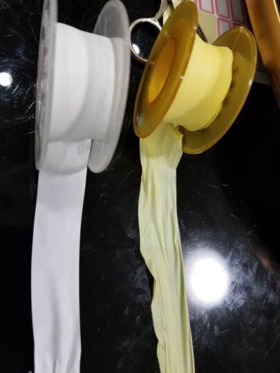 一靓 卫浴五金水龙头配件密封生胶带 管件卫浴配件水胶布加厚加宽生料带 A2款 4克 1卷8米 晒单图