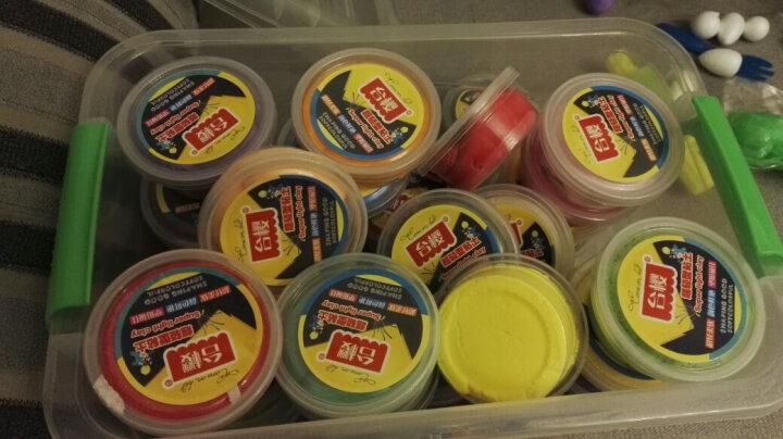 台樱 超轻粘土橡皮泥手工彩泥套装模具儿童益智DIY玩具黏土 36色收纳盒+制作工具 晒单图