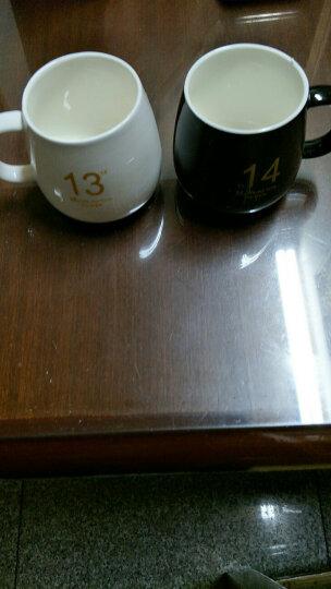 1314创意经典情侣杯子陶瓷杯带勺牛奶咖啡杯[1个] 白色土豪金版 晒单图