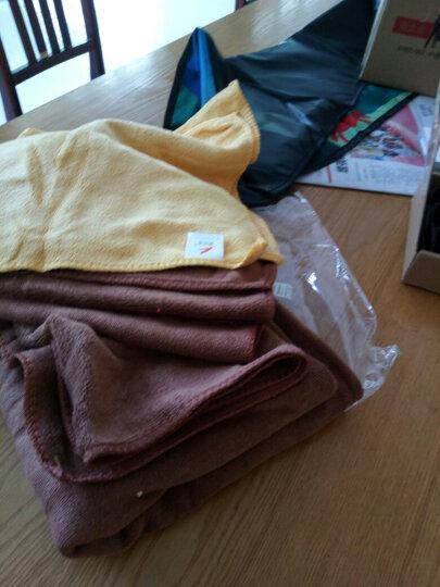 奥吉龙 洗车毛巾擦车布专用加厚吸水不掉毛大小号多功能刷车巾棕色黄色五条装送内饰250ml 晒单图