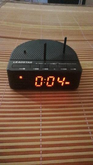 利视达(Leadstar) 蓝牙时钟音响LED夜光插卡音箱创意定时小闹钟静音时钟FM收音机听力学习机 黑色 夜光 晒单图