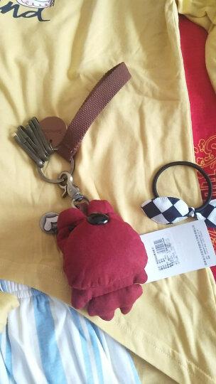 三色补丁创意可爱汽车钥匙包 囧囧熊钥匙扣钥匙挂件实用包包装饰 新版砖红6个扣 晒单图