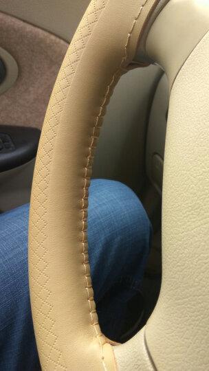 德克顿 汽车手缝真皮方向盘套 真皮方向盘套 大众本田丰田福特马自达奥迪起亚长城现代真皮 黑色红线 方向盘套 其他车型拍此选项 方向盘外径37-38CM适用 晒单图