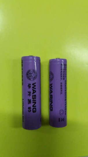华升黑豹可充电锂电池18500 18650 16340三元锂钴酸锂原厂正品大容量锂电电池 G4镍镉 晒单图