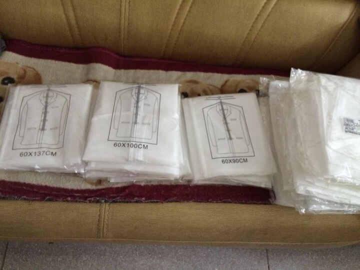 加厚透明防尘衣服收纳袋西装大衣罩挂衣袋套装 5只小号 晒单图