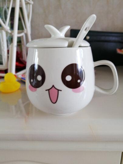 旬家 创意陶瓷马克杯子可爱女情侣杯水杯陶瓷咖啡杯子带盖勺 个性萌系表情杯定制 带盖带勺-泪小旺 晒单图