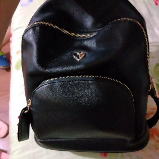 纽芝兰(NUCELLE)女包时尚双肩包韩版旅行背包大容量书包潮 172时尚黑 晒单图