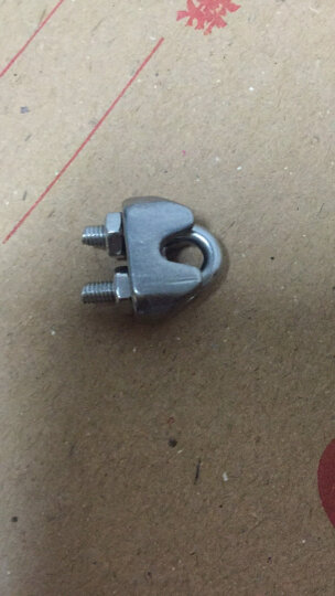 科脉 304不锈钢U型夹头 钢丝绳夹头 741夹头 绳卡 U形绳夹 卡头钢丝绳锁扣 M2 晒单图