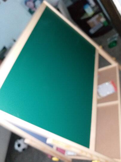 得力(deli)8773 实木可升降1508*936mm双面磁性多功能木制学生白板 儿童画板 画架 粉笔绿板 晒单图