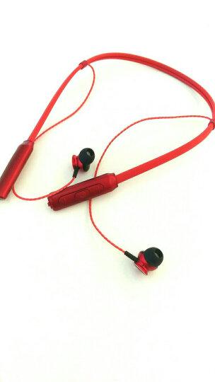Bizoe 无线蓝牙耳机 运动跑步苹果7/8/X入耳式耳机挂脖手机耳塞/耳麦 红色 晒单图