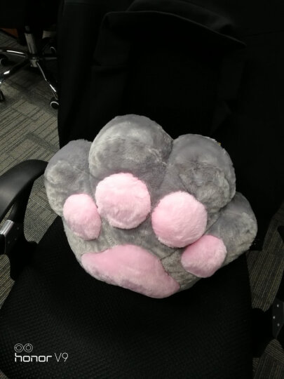 【生日礼物】创意可爱猫爪抱枕被子两用办公室午睡毯子空调被子靠垫腰靠 (猫肉球)白色 抱枕38X32cm毯子1米*1米7 晒单图