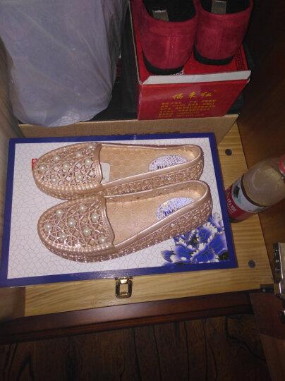漂步夏季平底妈妈防滑洞洞鞋 涉水驾车女沙滩鞋透气白色护士休闲户外塑料凉鞋女1158 珍珠杏色 39 晒单图