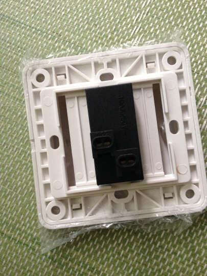 西门子(SIEMENS)开关插座面板远景系列一开单控带荧光开关面板(雅白色) 晒单图