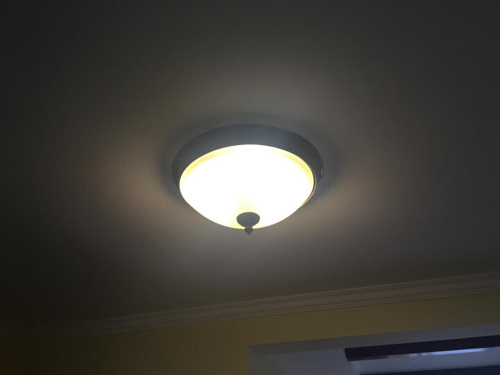 名斯 美式乡村吸顶灯 卧室灯欧式简约阳台灯过道灯厨房灯具灯饰 小号直径35cm 晒单图