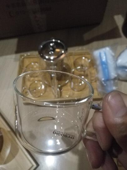 品茶忆友 茶壶耐热加厚玻璃泡茶壶 功夫茶杯不锈钢过滤沏茶壶旅行商务办公茶具套装 大号+4杯+茶盘 晒单图