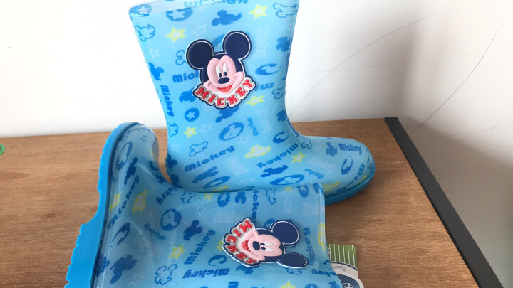迪士尼 Disney 儿童雨鞋 男女童卡通防滑雨靴小孩胶鞋水鞋 15493 米妮粉31码 晒单图