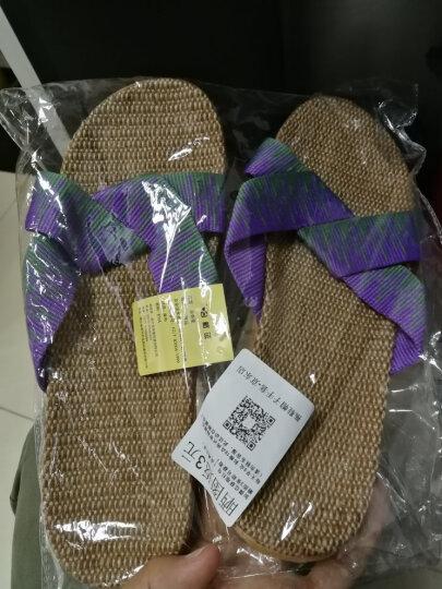 米奇菱拖鞋夏女男士地板拖 家居室内亚麻女士凉拖鞋1045 1025咖啡色男 28cm(42/43) 晒单图