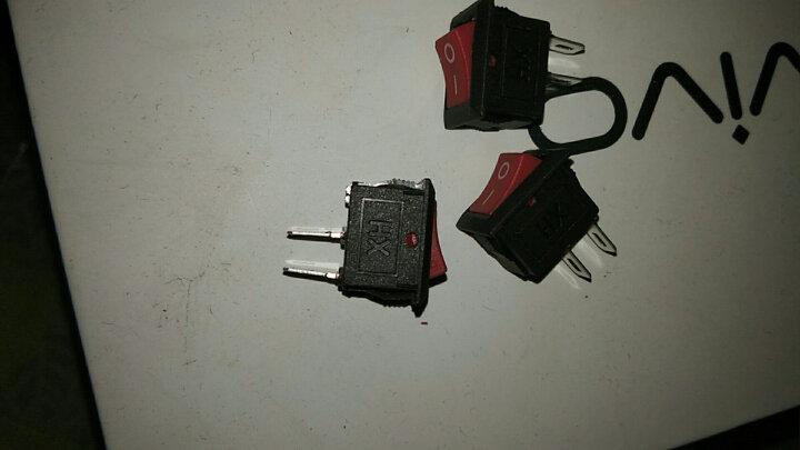 按钮按键开关 船型开关 红色2脚2档 翘板开关 船形开关 电源开关 晒单图