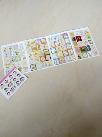 复古风童话小王子手帐贴纸 折叠邮票纸质贴纸 4张入 晒单图