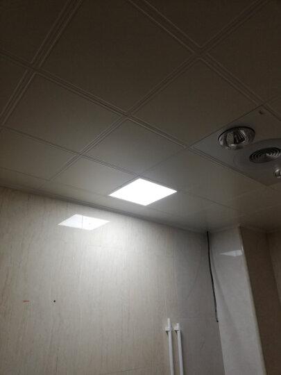雷士照明集成吊顶灯厨房led平面板铝扣板嵌入式浴室卫生间格栅吸顶灯具 白色 24W功率30*60cm黄光 晒单图